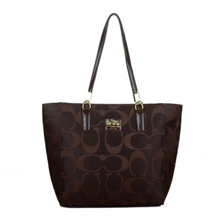 Signature Chocolate Coach Poppy Handbag