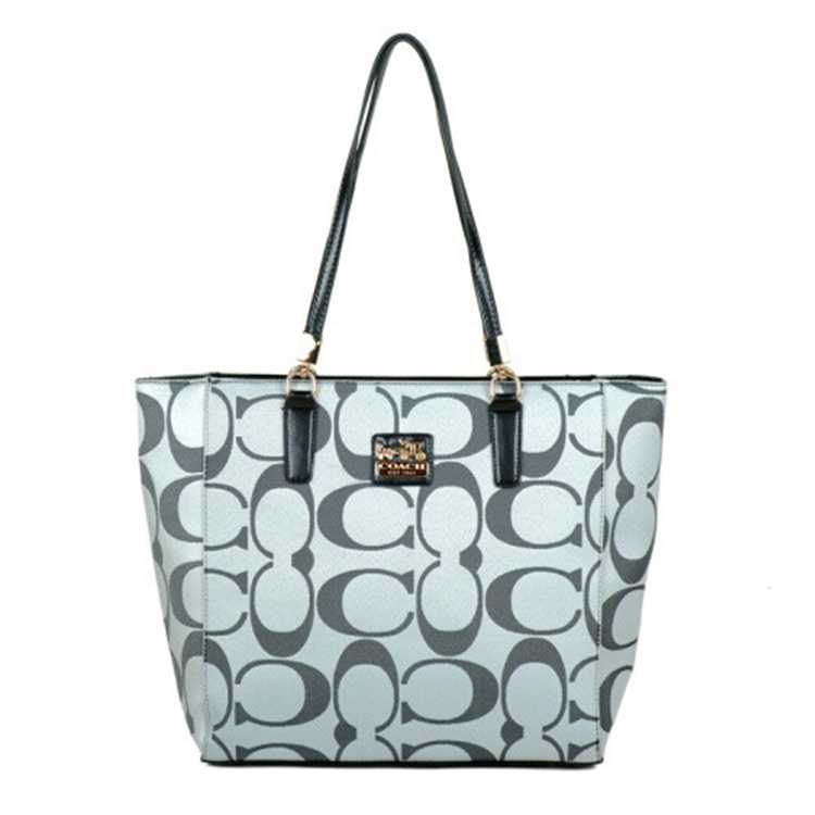 Coach Signature Gray Poppy Handbag