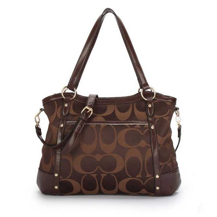 Coach Poppy Handbag Signature Chocolate
