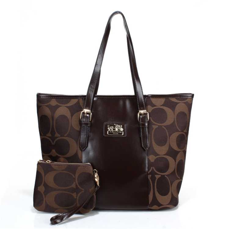 Signature Brown Coach Poppy Handbag