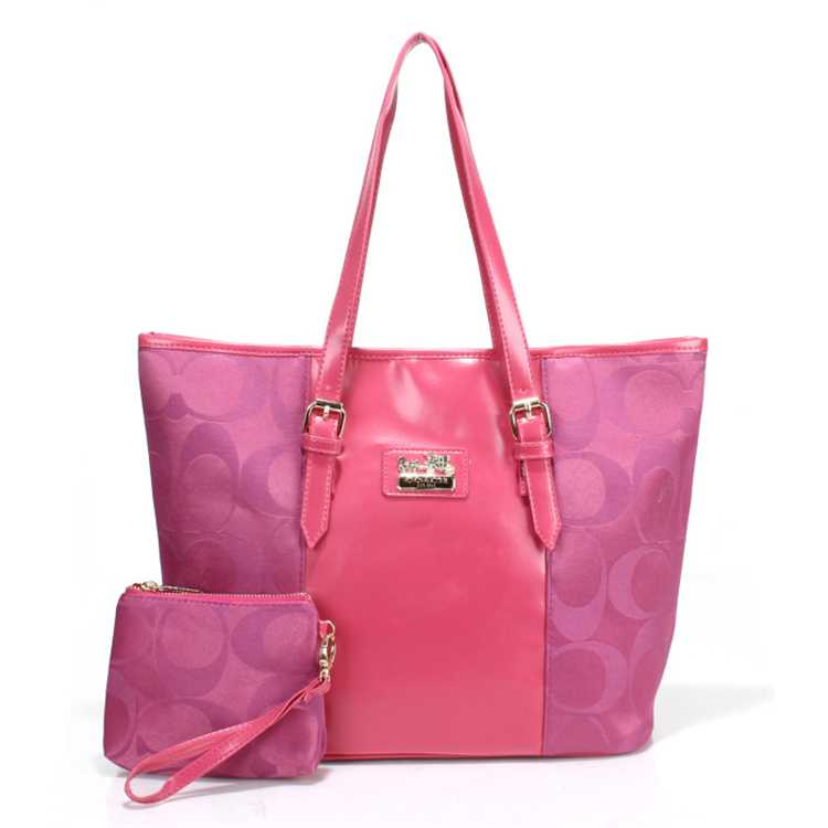 Coach Signature Pink Poppy Handbag
