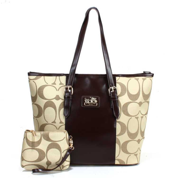 Coach Apricot Brown Poppy Handbag