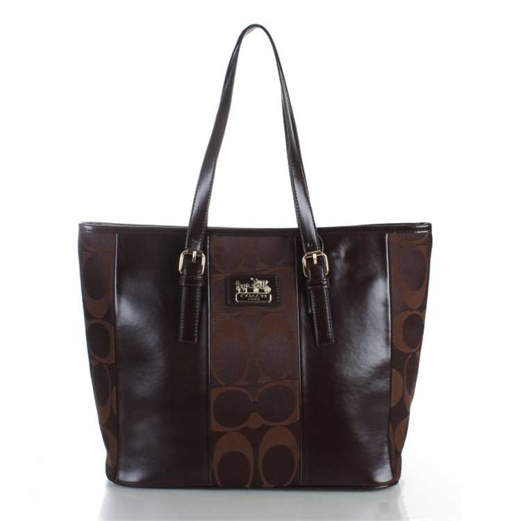 Coach Poppy Signature Chocolate Handbag
