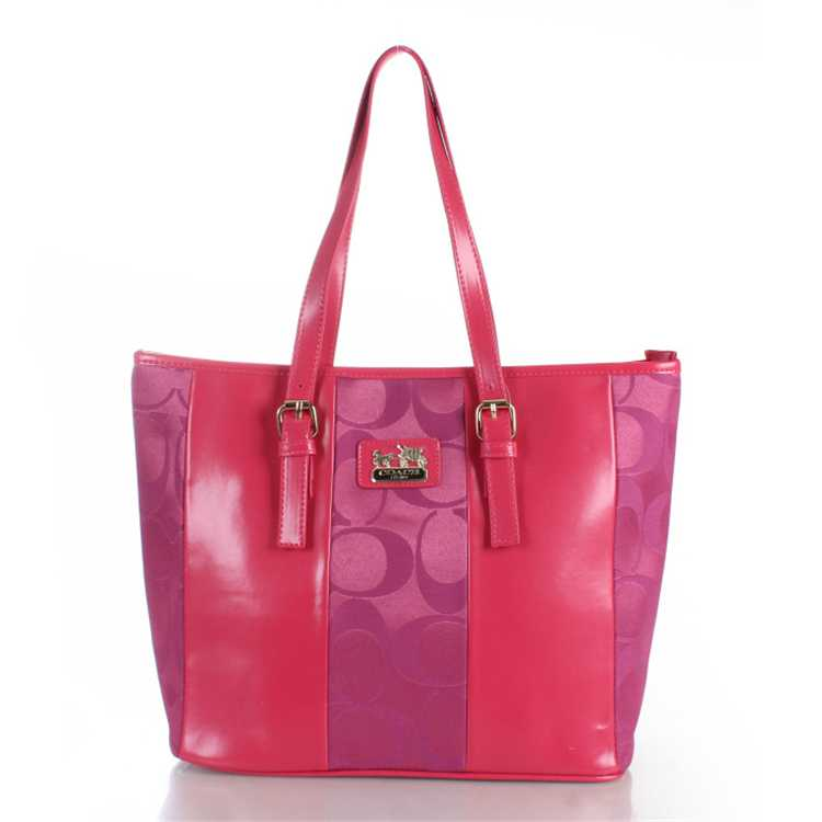 Signature Pink Coach Poppy Handbag