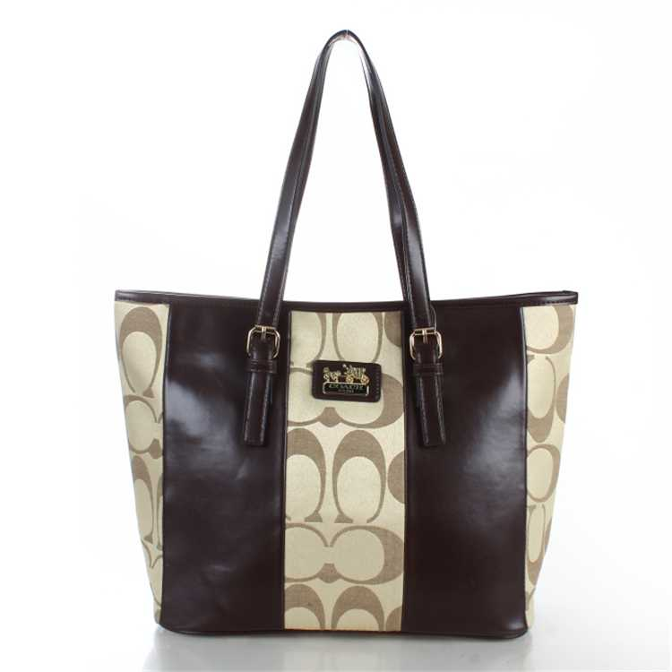 Brown Apricot Coach Poppy Handbag