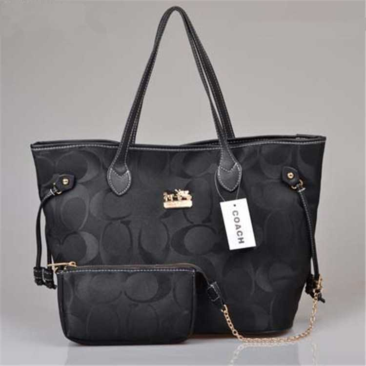 Black Coach Poppy Handbag