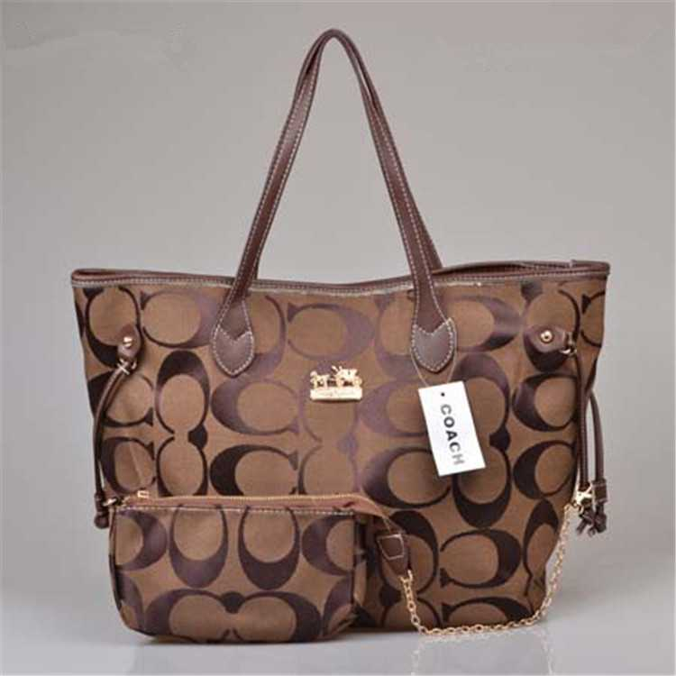 Coach Poppy Handbag Brown