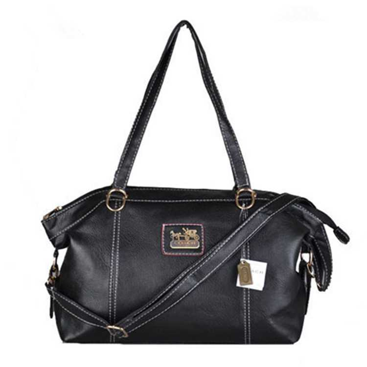 Coach Black Leather Poppy Handbag