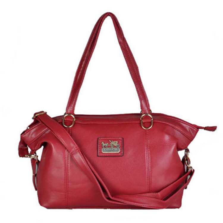 Coach Red Leather Poppy Handbag