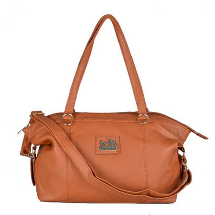 Coach Khaki Leather Poppy Handbag