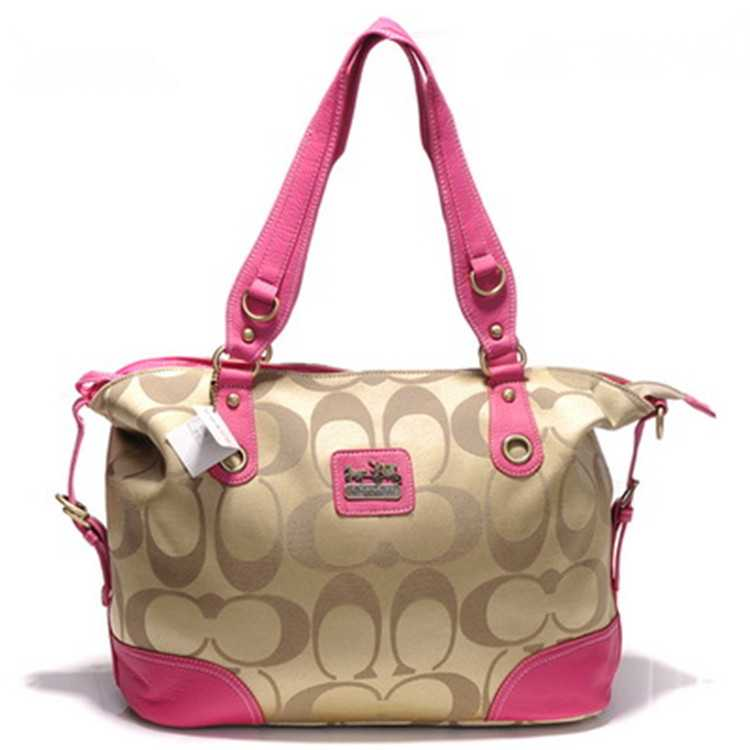Signature Pink Poppy Handbag Coach