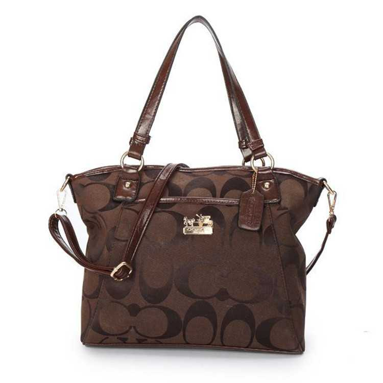 Brown Poppy Handbag Coach