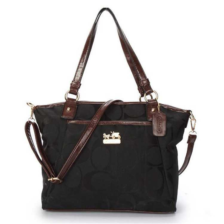 Black Poppy Handbag Coach