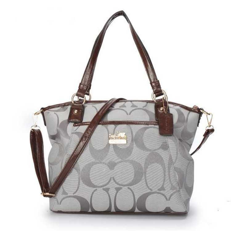 Gray Poppy Handbag Coach