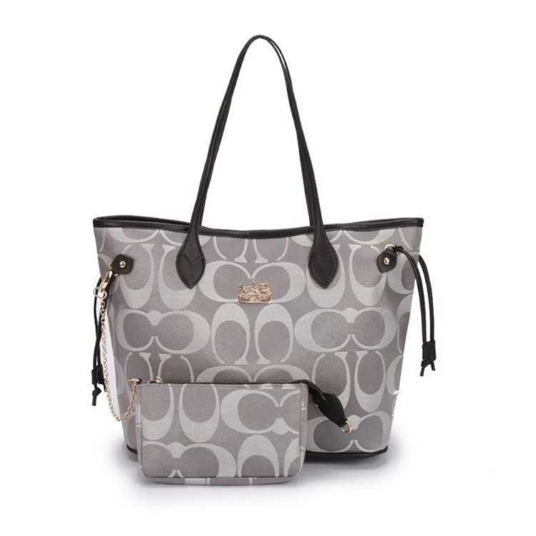 Grey Poppy Handbag Coach