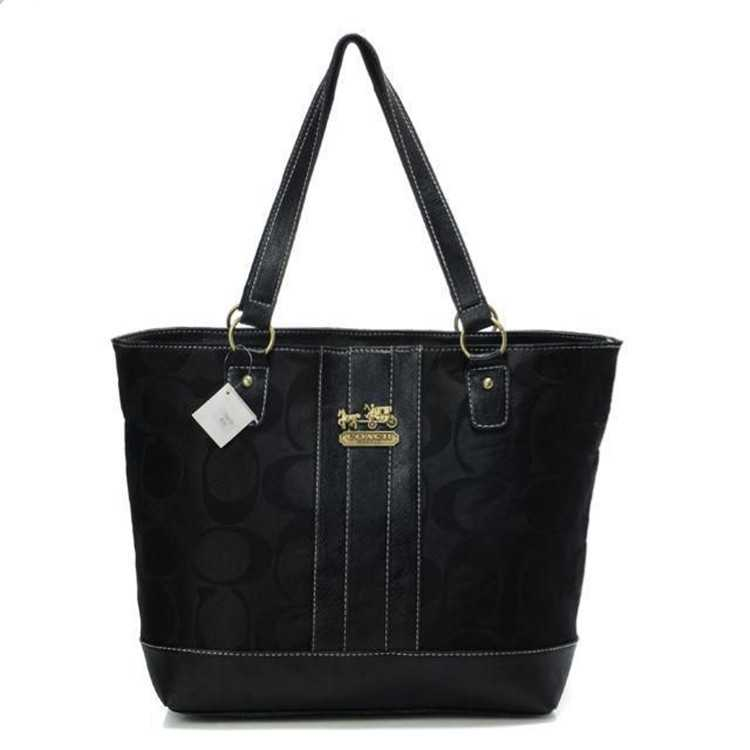 Poppy Handbag Signature Black Coach