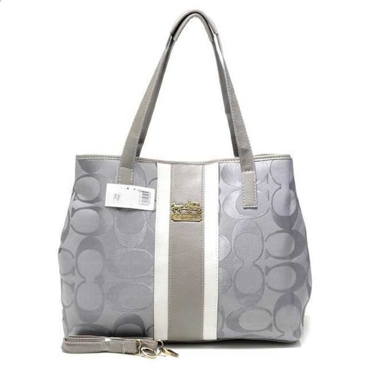 Poppy Handbag Gray Coach
