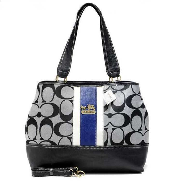 Coach Black Blue Poppy Handbag