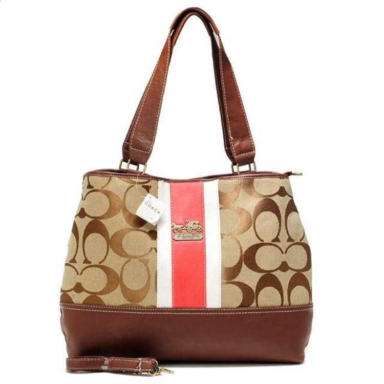 Coach Pink Brown Poppy Handbag