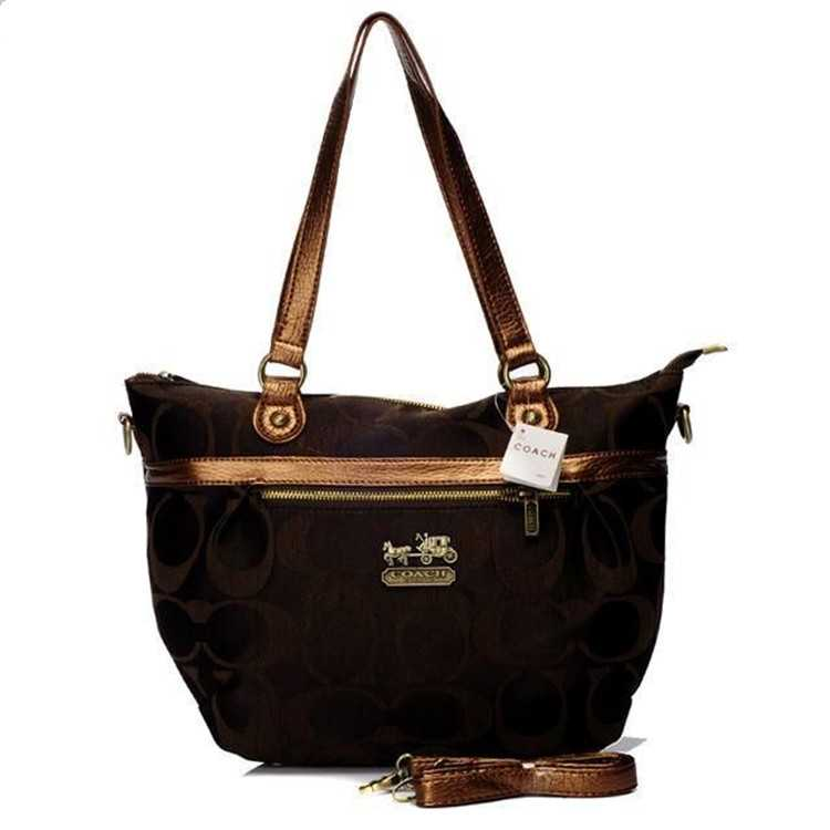 Poppy Handbag Signature Brown Coach