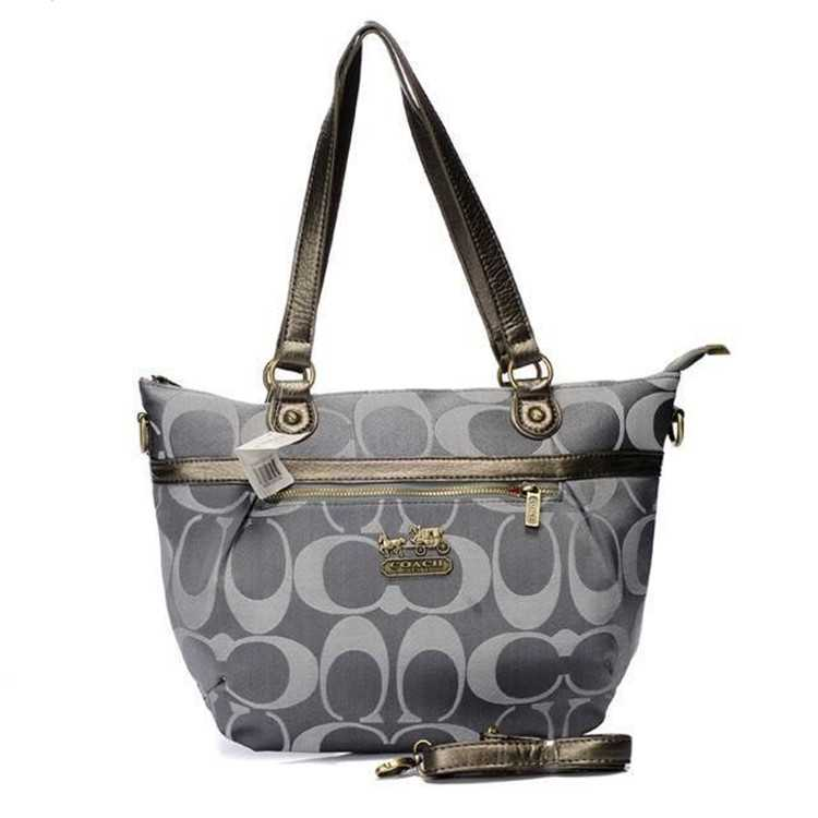 Coach Gray Poppy Bag