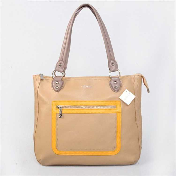 Coach Apricot Yellow Poppy Bag