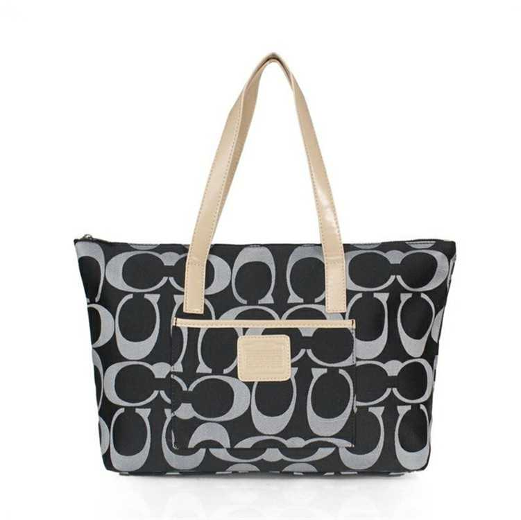 Coach Black Grey Poppy Bag