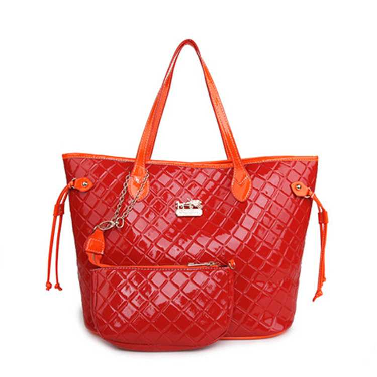 Coach Red Orange Poppy Bag