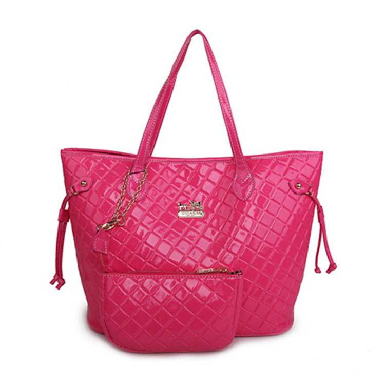 Coach Pink Leather Poppy Bag