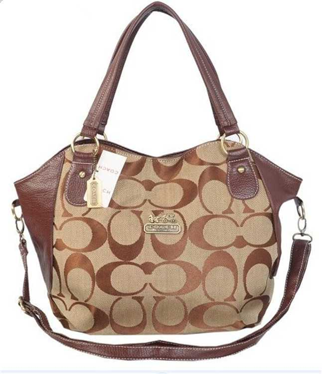 Coach Signature Brown Poppy Bag