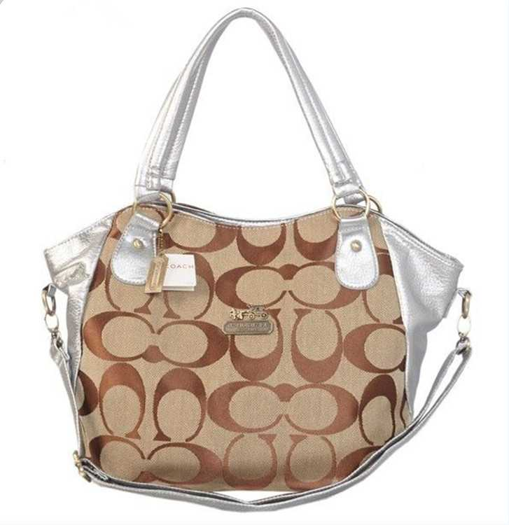 Coach Brown Sliver Poppy Bag