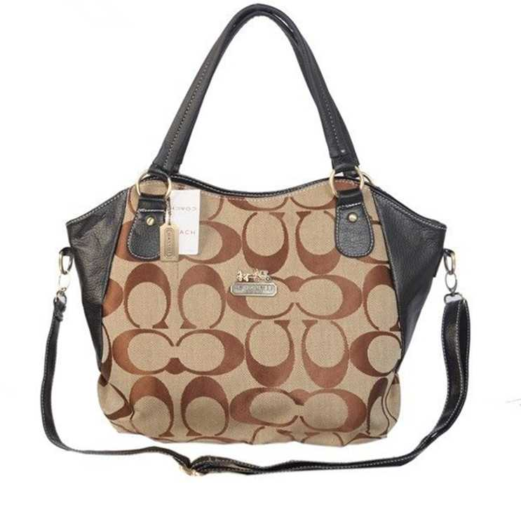 Coach Brown Black Poppy Bag