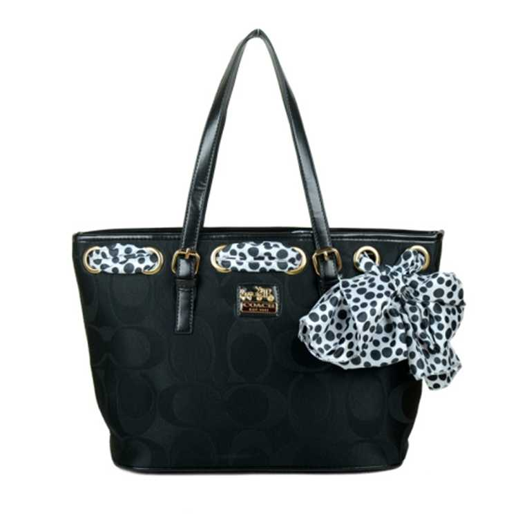 Coach Poppy Signature Black Bag