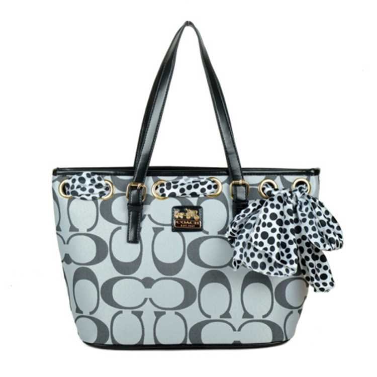 Coach Poppy Signature Grey Bag
