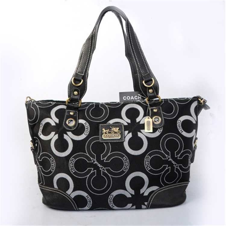 Coach Circle Black Poppy Bag