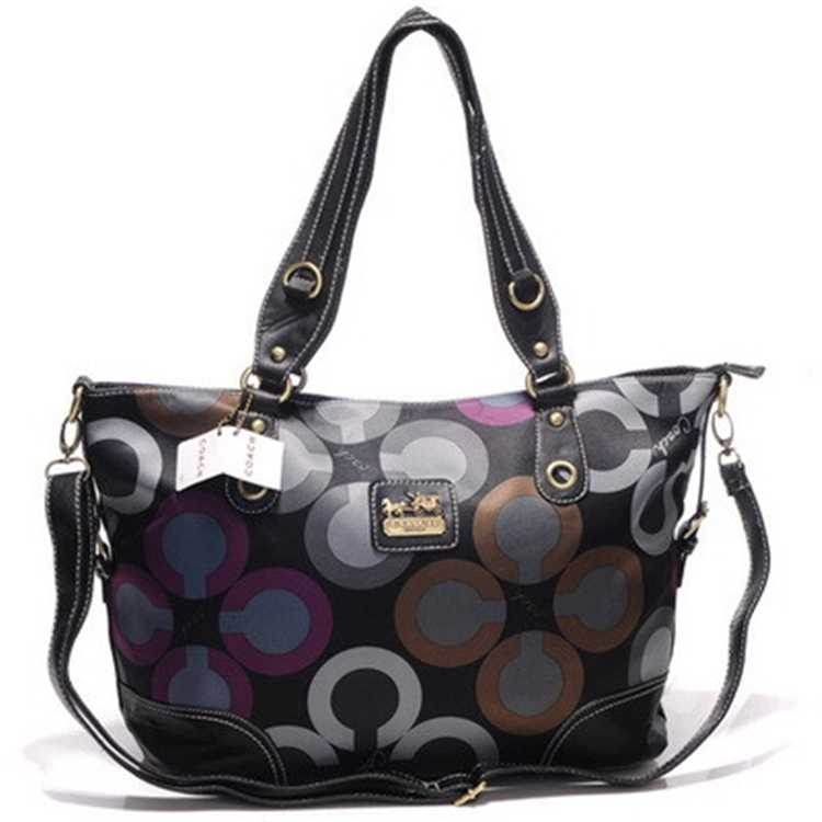 Coach Black Brown Poppy Bag