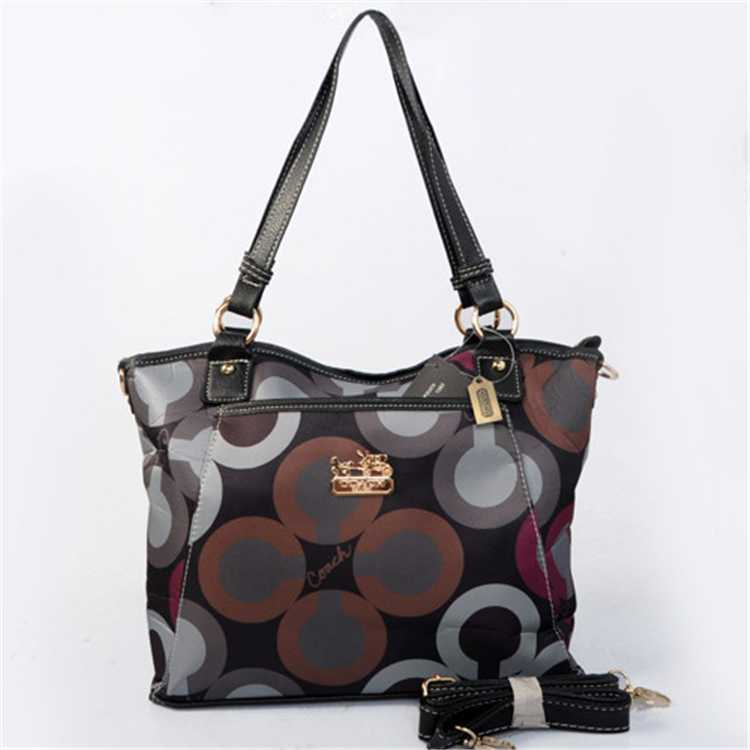 Brown Black Coach Poppy Bag