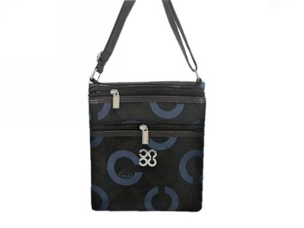 Coach Blue Black Shoulder Bag