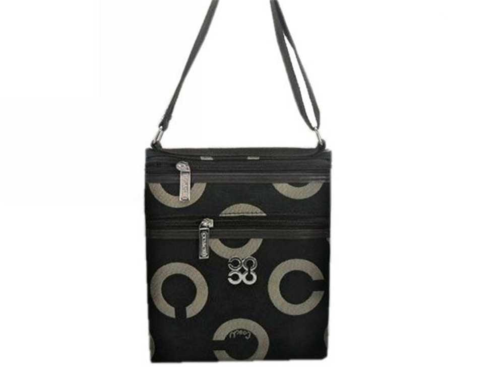 Coach Circle Black Shoulder Bag