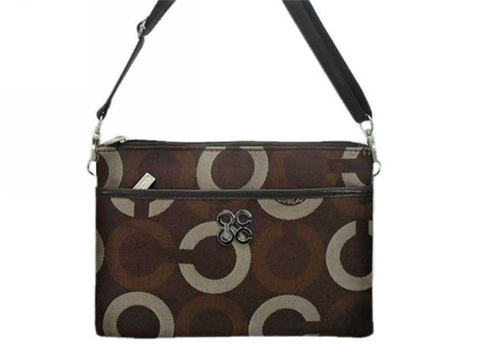 Coach Circle Chocolate Shoulder Bag