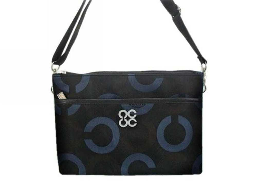 Coach Black Blue Shoulder Bag