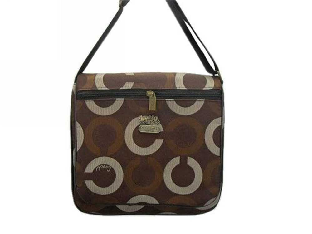 Coach Circle Brown Shoulder Bag