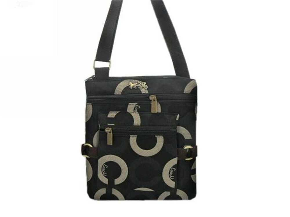 Circle Black Coach Shoulder Bag