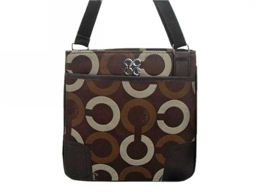 Circle Brown Coach Shoulder Bag
