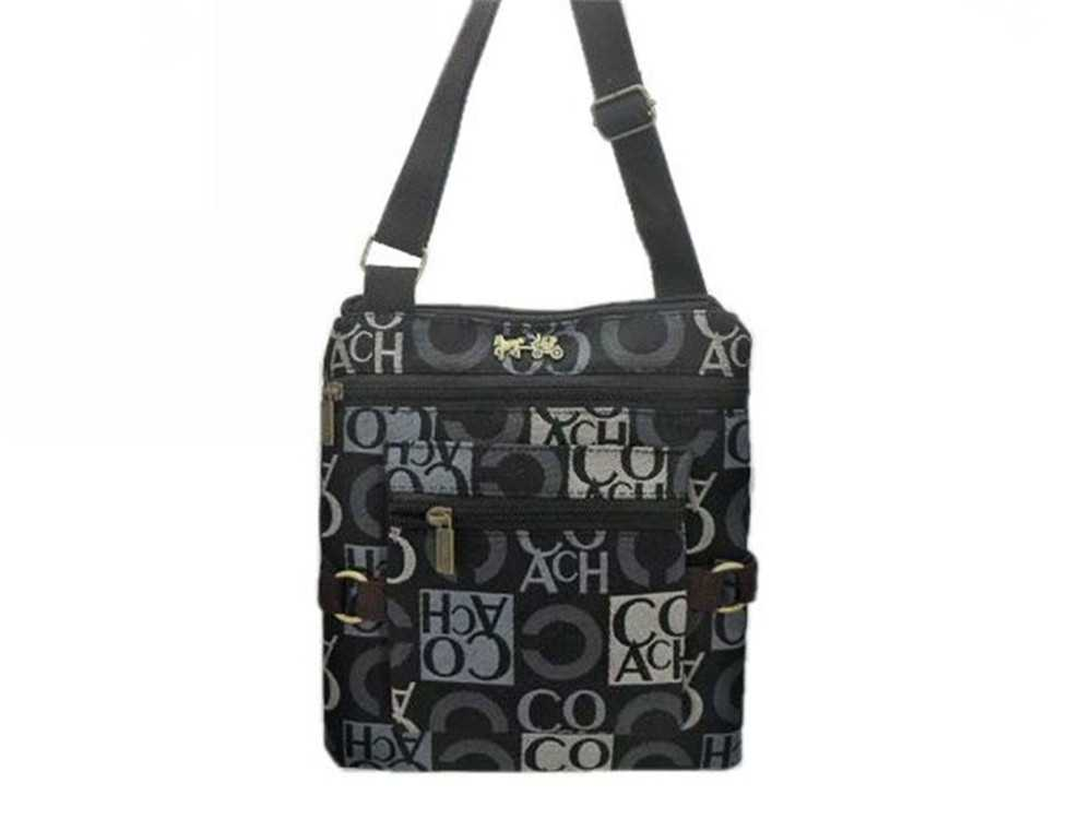 Black Gray Coach Shoulder Bag
