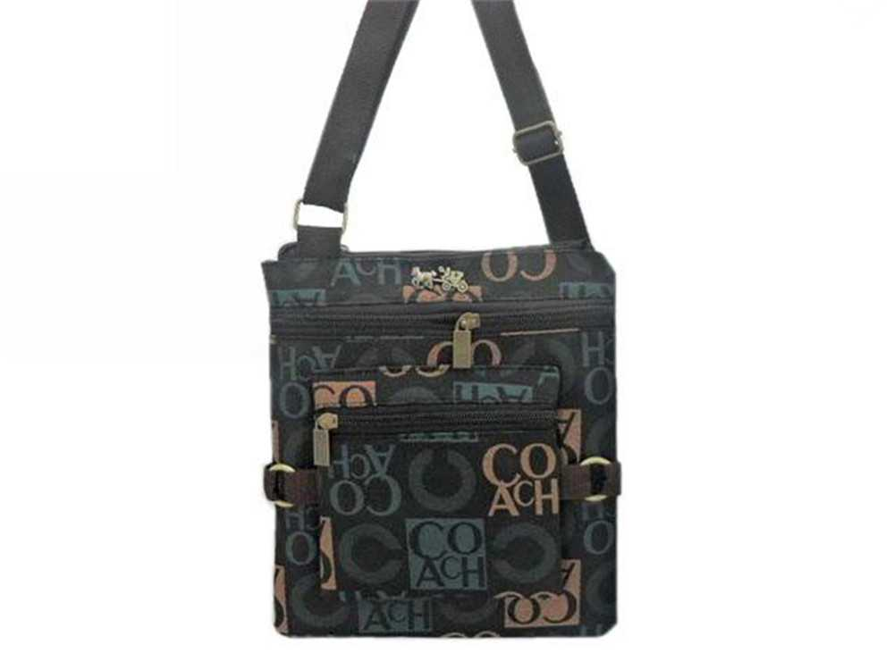 Blue Black Coach Shoulder Bag