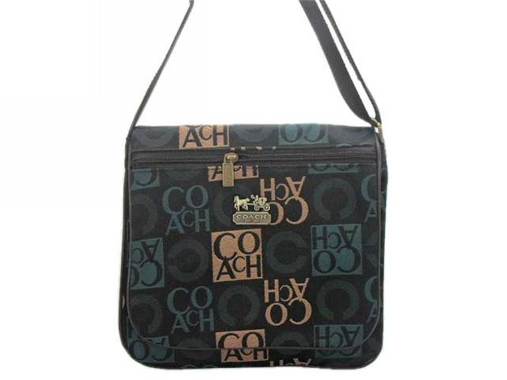 Black Blue Coach Shoulder Bag