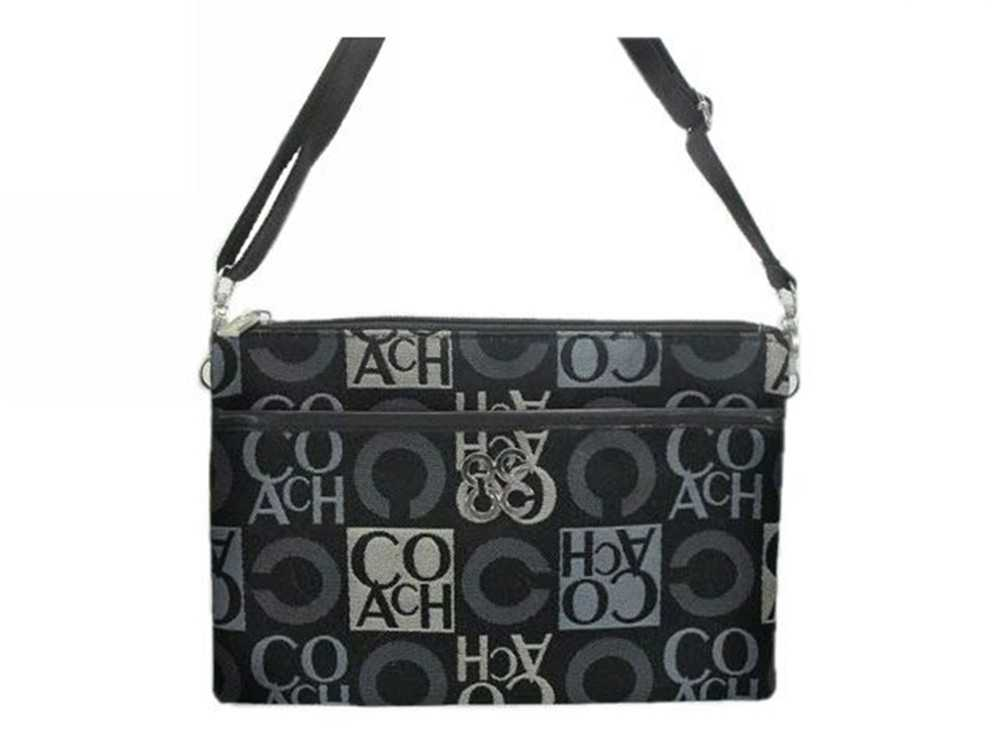 Gray Black Coach Shoulder Bag