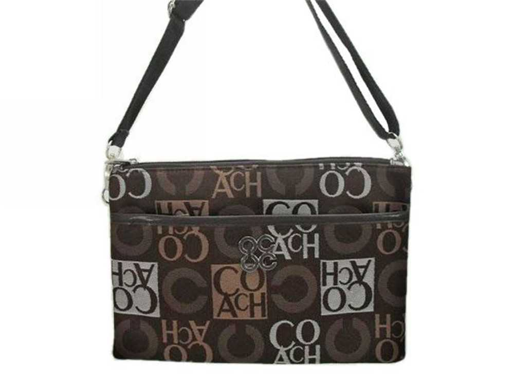 Chocolate Gray Coach Shoulder Bag