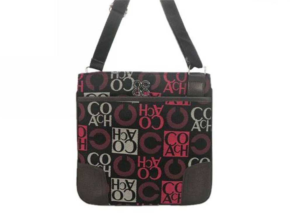 Black Red Coach Shoulder Bag